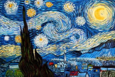 Vincent Van Gogh - Starry Night 60x90 cm Reproduction Oil Painting 58964