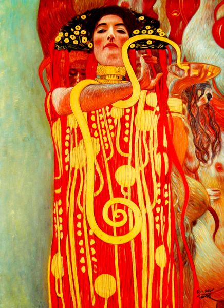 Gustav Klimt - Medicine 90x120 cm Reproduction Oil Painting