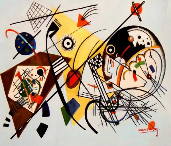 Wassily Kandinsky - Transverse Line 50x60 cm Reproduction Oil Painting 58977