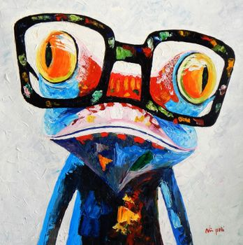 Modern Art - Froggy 80x80 cm Oil Painting 58984