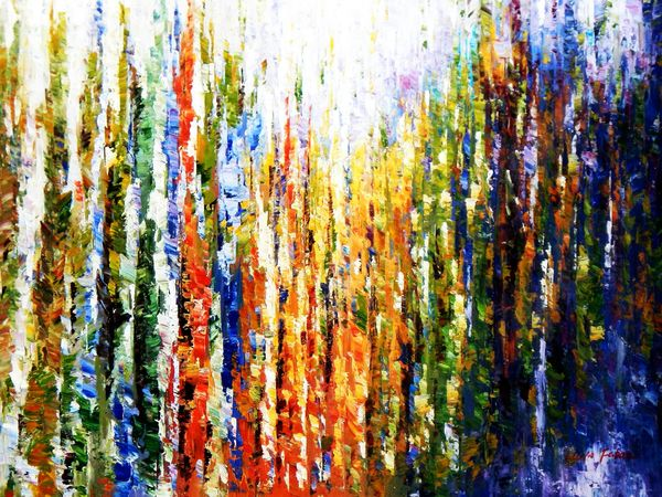 Abstract - Rainforest 90x120 cm Oil Painting