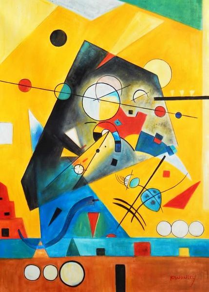 Wassily Kandinsky - Quiet Harmony 80x110 cm Reproduction Oil Painting