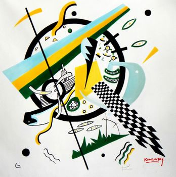 Wassily Kandinsky - Small Worlds 80x80 cm Reproduction Oil Painting