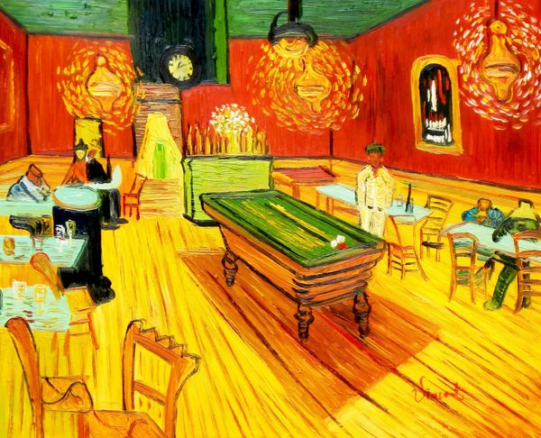 Vincent Van Gogh - Night Cafe - Arles 40x50 cm Reproduction Oil Painting
