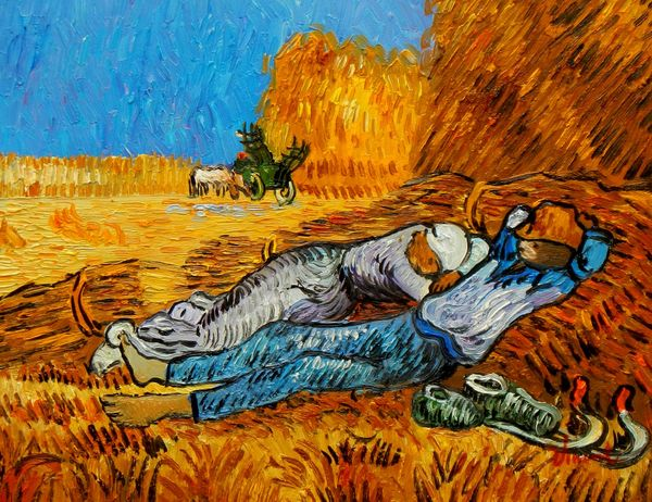 Vincent Van Gogh - Rest From Work 30x40 cm Reproduction Oil Painting