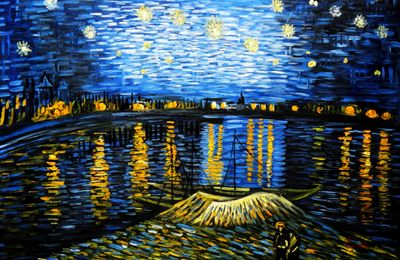 Vincent Van Gogh - Starry Night 60x90 cm Reproduction Oil Painting 59147