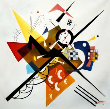 Wassily Kandinsky - Balance In The Composition 120x120 cm Reproduction Oil Painting