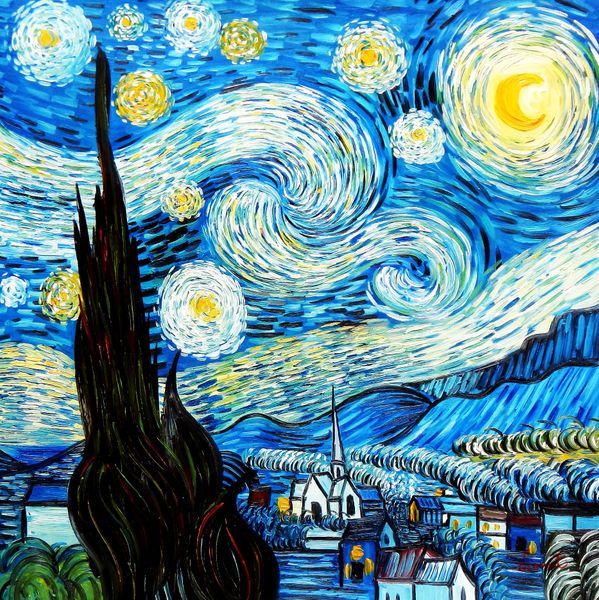 Vincent Van Gogh - Starry Night 80x80 cm Reproduction Oil Painting 59205