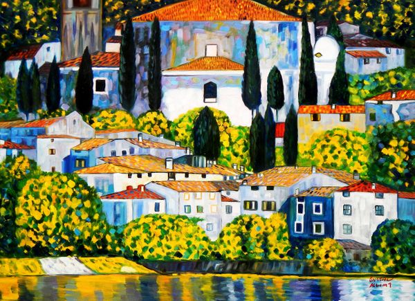 Gustav Klimt - Church In Cassone 80x110 cm Reproduction Oil Painting