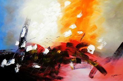 Abstract - Rhythm Of Light 120x180 cm Oil Painting