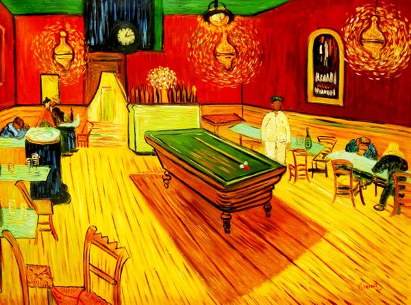 Vincent Van Gogh - Night Cafe - Arles 90x120 cm Reproduction Oil Painting