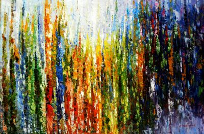 Abstract - Rainforest 120x180 cm Oil Painting Museum Quality