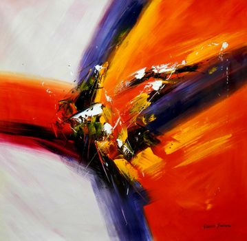 Abstract - Impact Study 120x120 cm Oil Painting 59447