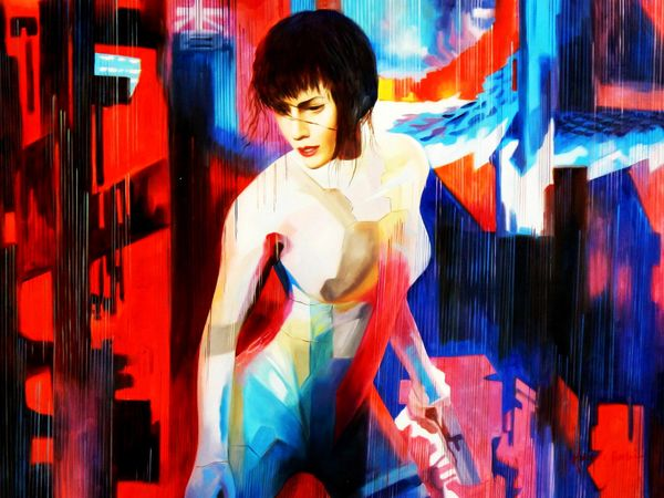 Modern Art - Homage To Ghost In The Shell 80x110 cm Oil Painting