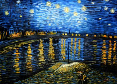 Vincent Van Gogh - Starry Night 80x110 cm Reproduction Oil Painting