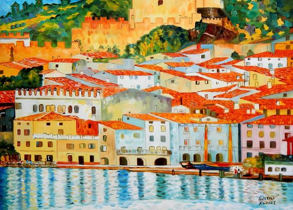 Gustav Klimt - Malcesine On Lake Garda 80x110 cm Reproduction Oil Painting 59497