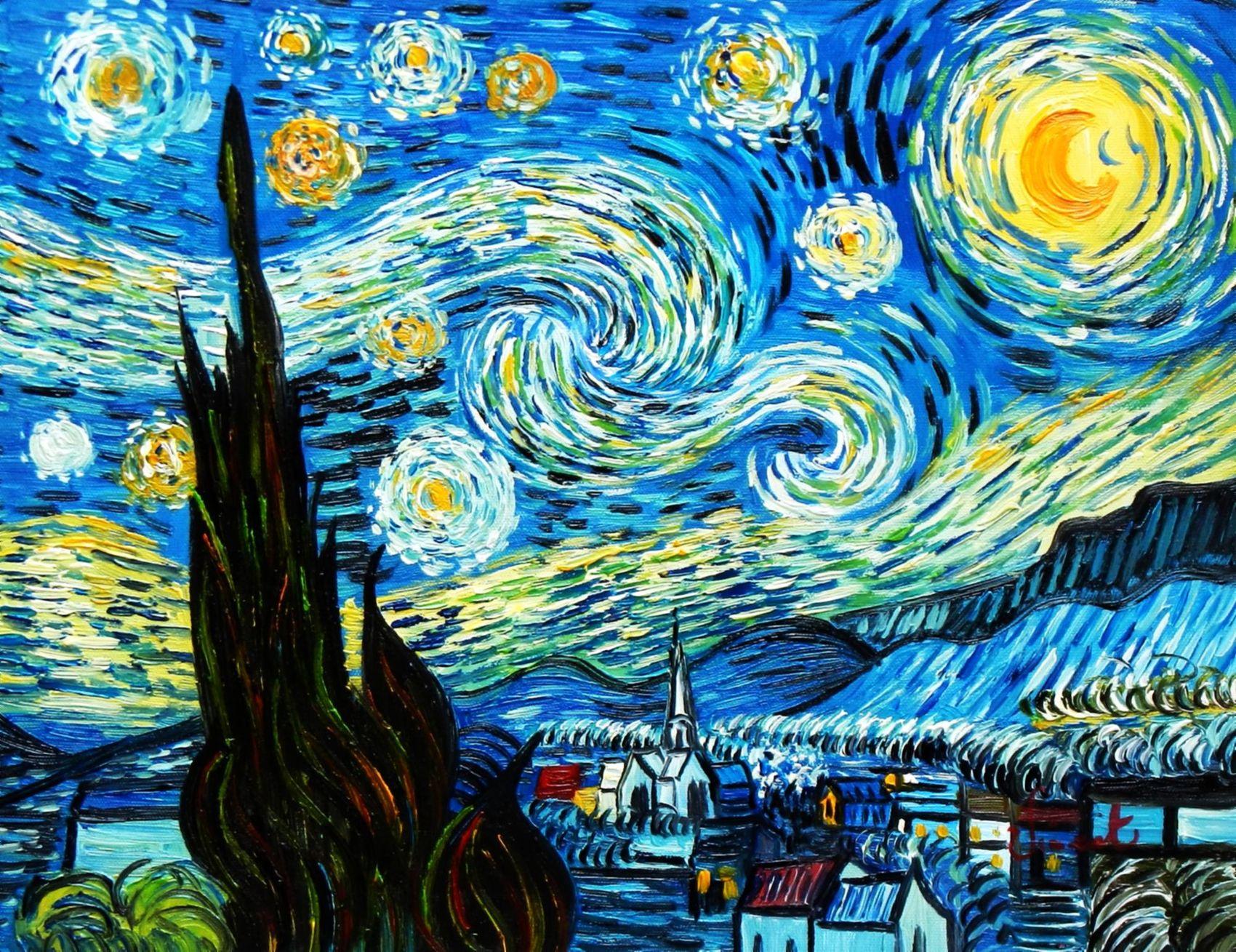 Vincent Van Gogh - La Nuit Étoilée 30x40