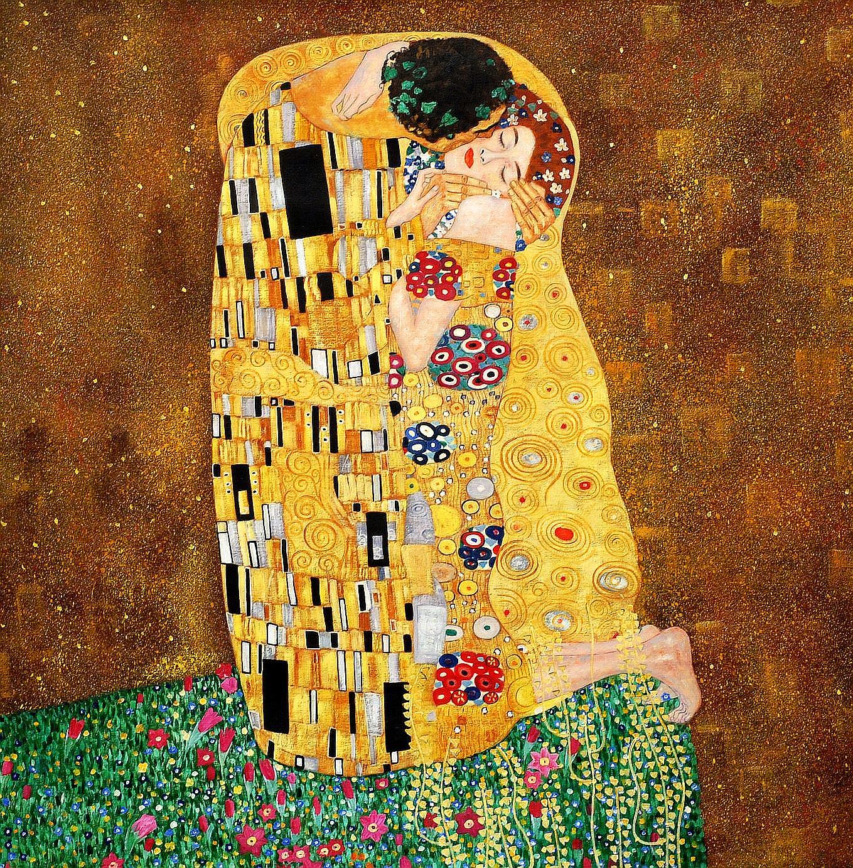 Gustav Klimt - The Kiss 120x120 cm Reproduction Oil ...
