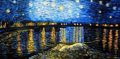 Vincent Van Gogh - Starry Night 60x120 cm Reproduction Oil Painting 59528