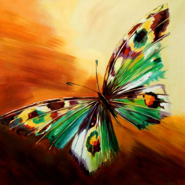 Modern Art - The Butterfly 80x80 cm Oil Painting 59757