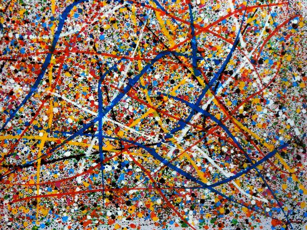 Homage To Pollock - Number 2 90x120 cm Reproduction Oil Painting