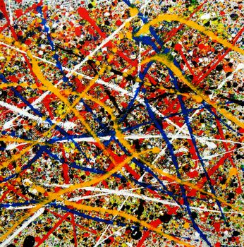 Homage To Pollock - Number 1 80x80 cm Reproduction Oil Painting 59784