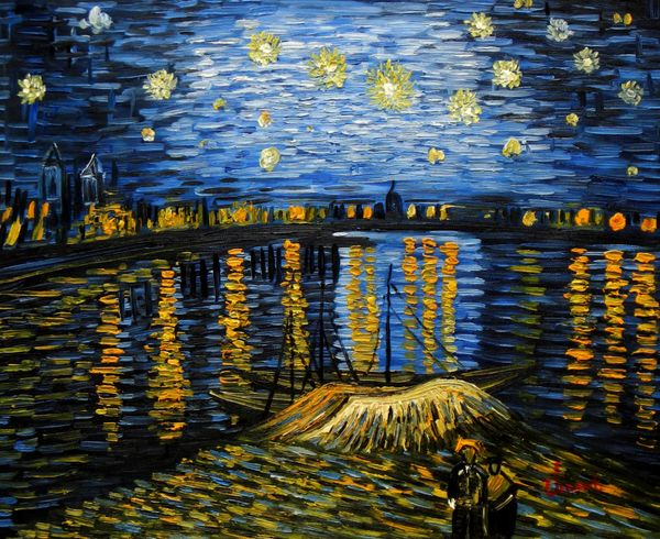 Vincent Van Gogh - Starry Night 40x50 cm Reproduction Oil Painting 59788