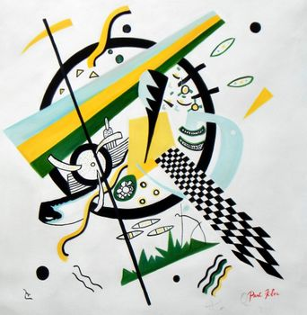 Homage To Kandinsky - Variation Of The Transverse Line 80x80 cm Reproduction Oil Painting 59791