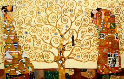 Gustav Klimt - The Tree Of Life 120x180 cm Reproduction Oil Painting Museum Quality