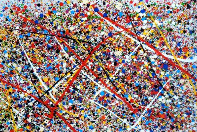 Homage To Pollock - Number 1 60x90 cm Reproduction Oil Painting 59851