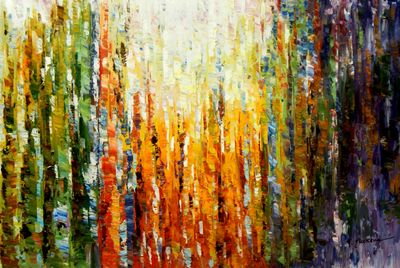 Abstract - Rainforest 60x90 cm Oil Painting 59897