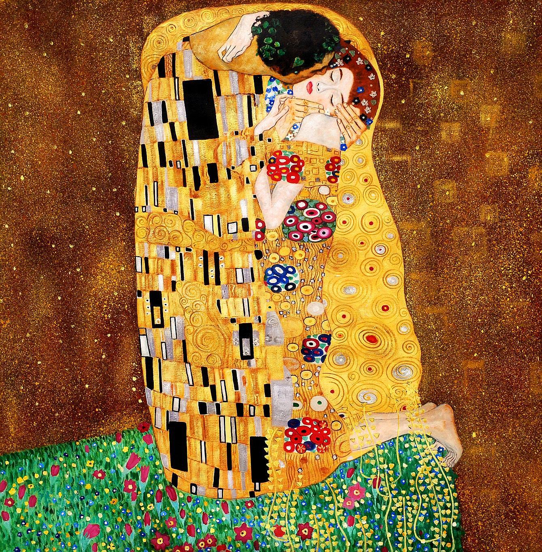 Gustav Klimt - The Kiss 90x90 cm Reproduction Oil Painting ...