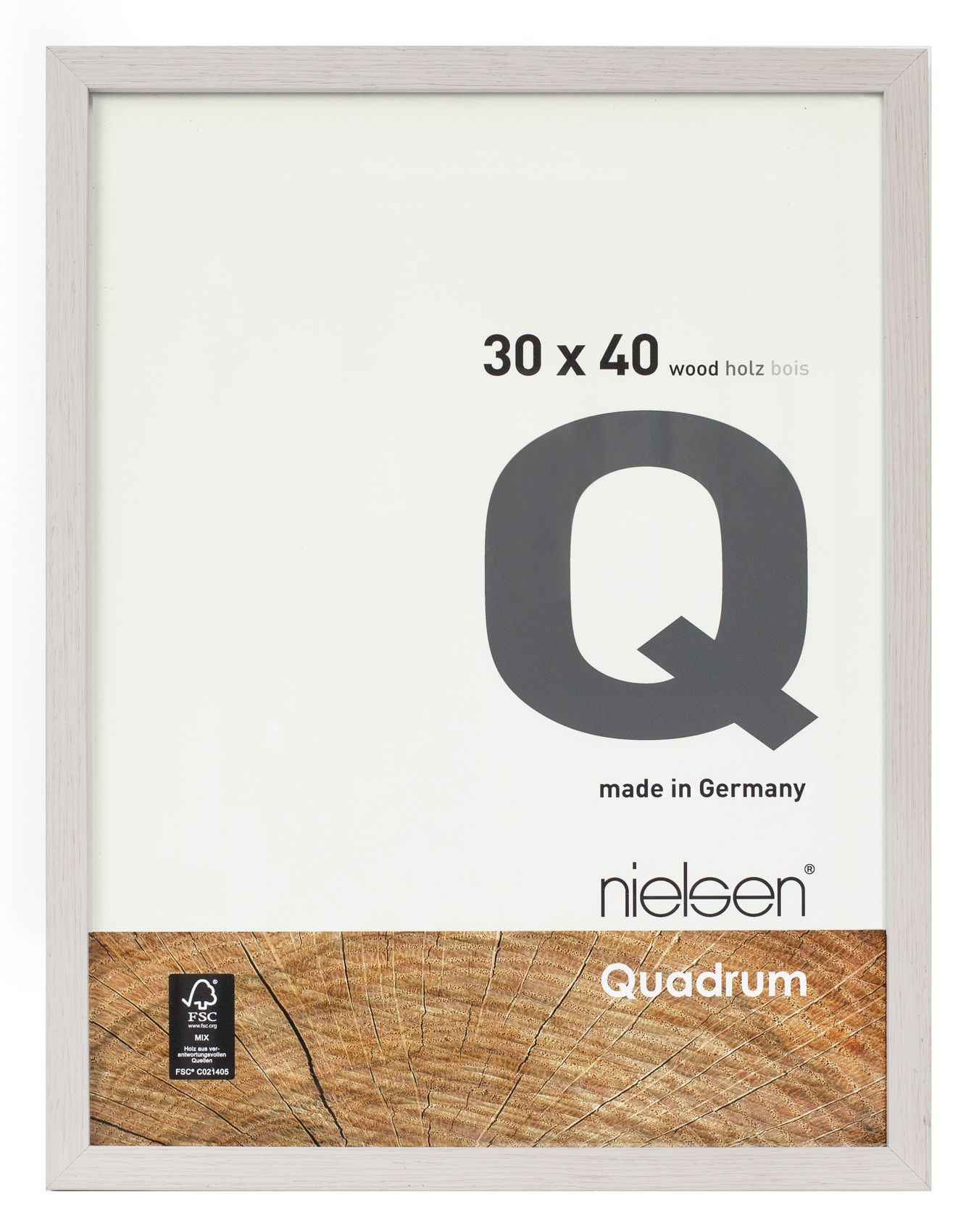 Nielsen Quadrum 29.7x42cm A3 Veneer Cement Wood Picture Frame ...