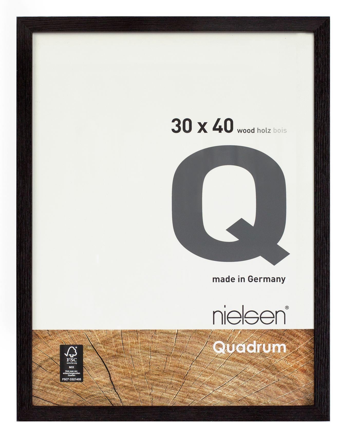 Nielsen Quadrum 30x40 Veneer Jet Wood Picture Frame The Artch