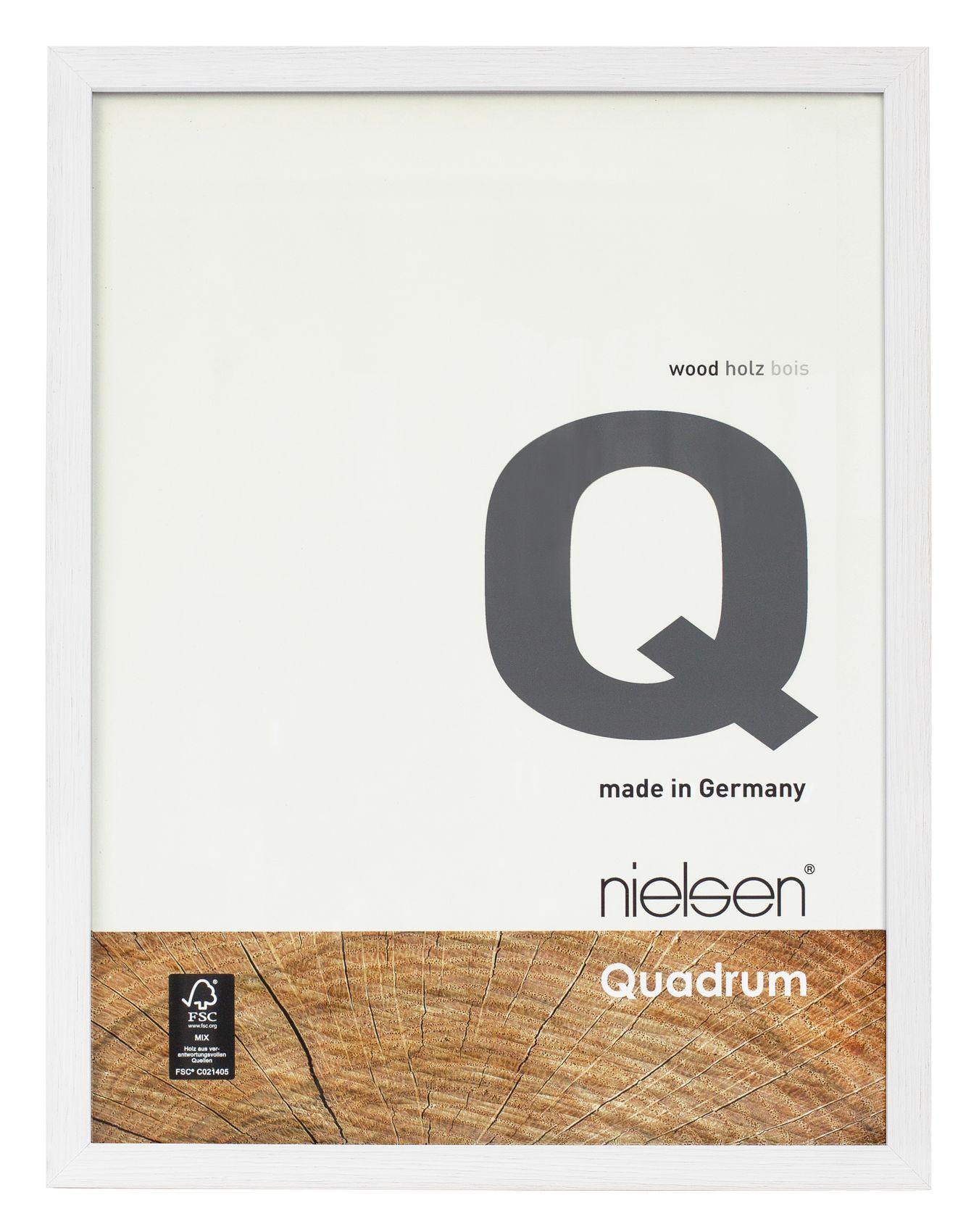Nielsen Quadrum 30x40 Cm Matt White Wood Picture Frame The Artch