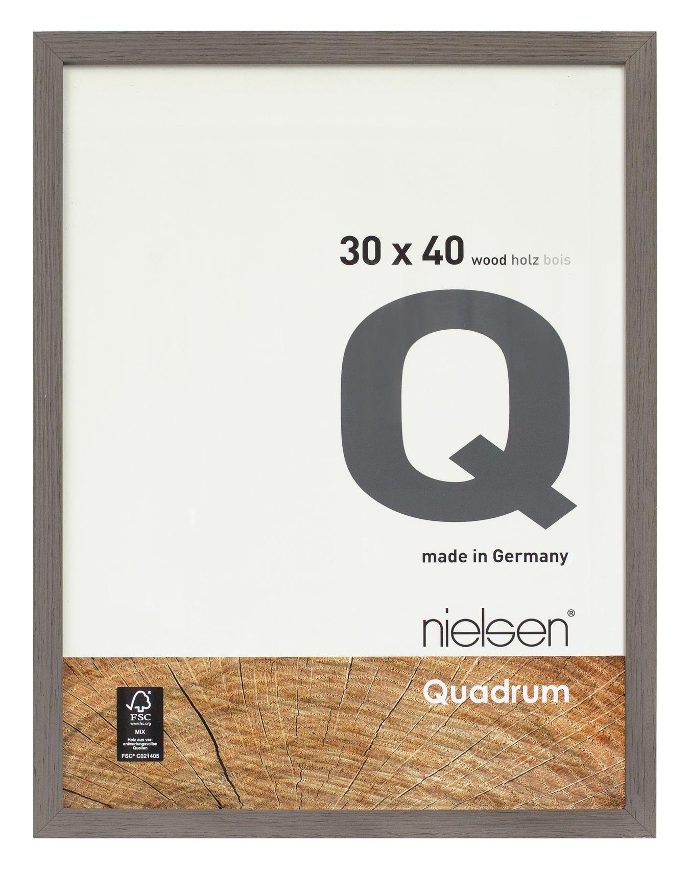 Nielsen Quadrum 42x59.4cm A2 Veneer Grey Wood Picture Frame ...