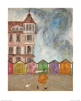 Sam Toft (I Can Sing a Beach Hut) 40x50 cm
