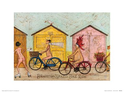 Sam Toft (Brighton Naked Bike Ride) 30x40cm
