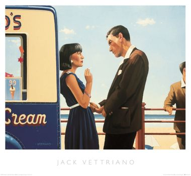 Jack Vettriano - The Lying Game - Art Print - 46x50cm