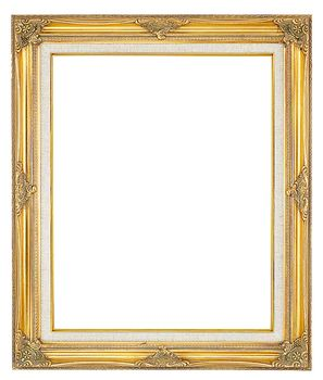 2 '' Ornate Swept Gold Frame '' Kordula '' with Linen Liner