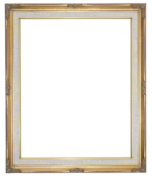 1 '' Ornate Swept Gold Frame '' Luana '' with Linen Liner