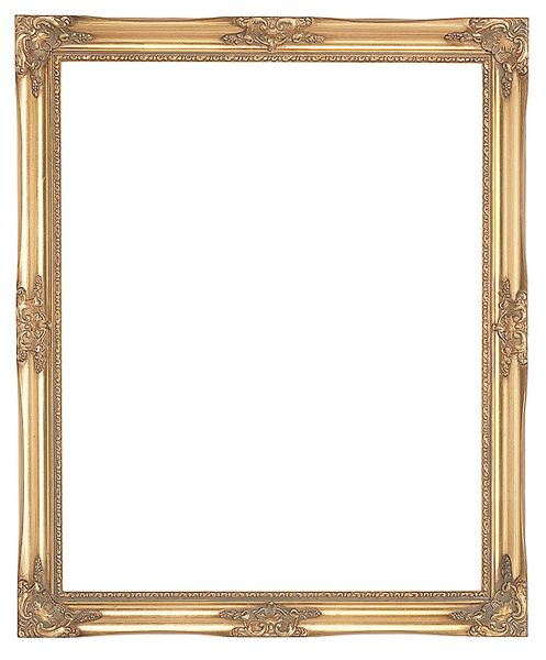 1.5 '' Decorative Ornate Swept Gold Frame '' Valentina ''