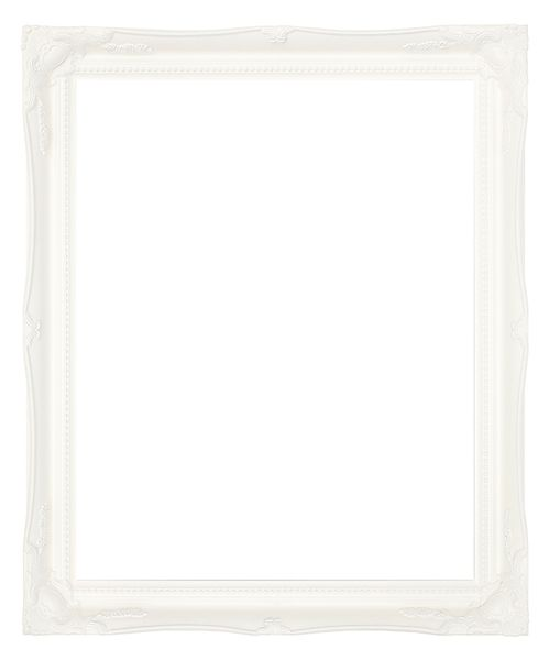 2 '' White Decorative Ornate Swept Frame '' Albion ''