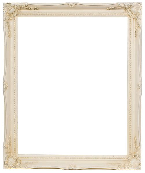 2 '' Ivory Decorative Ornate Swept Frame '' Ivy ''