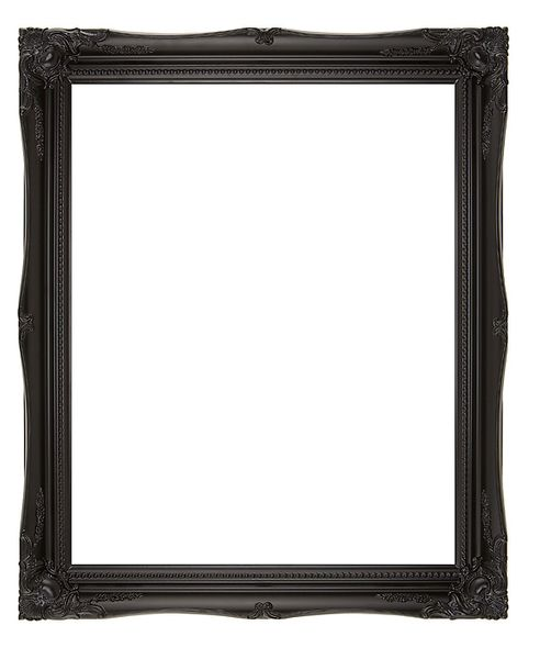 2 '' Black Decorative Ornate Swept Frame '' Elise ''