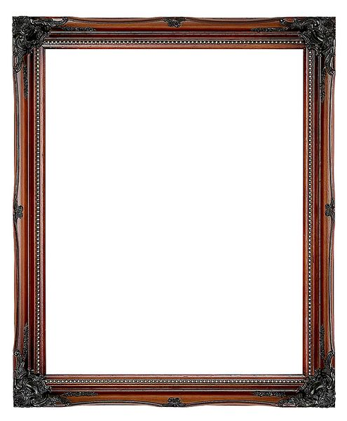 2 '' Walnut / Gold Decorative Ornate Swept Frame '' Rita ''