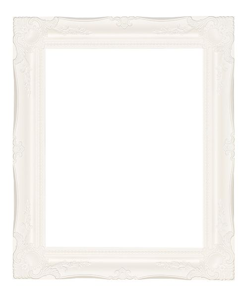 3 '' White Decorative Ornate Swept Frame '' Mirabelle ''  – image 1