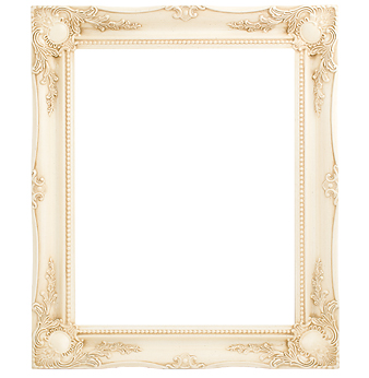 3 '' Ivory Decorative Ornate Swept Frame '' Valerie ''  – image 1
