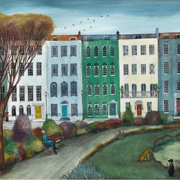 Townhouses  - Limited Edition print by Joe Ramm