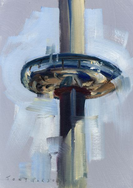 """"""" iSore 360 - Framed painting in oil by Tony Parsons"""